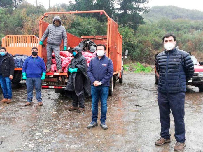 Agricultores donan más de 8 toneladas de papas para ollas comunes de la Región del Biobío