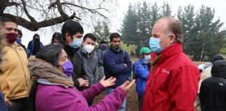 Ministro Walker encabezó entrega de forraje para dos mil agricultores de Alto Biobío afectados por las heladas y nevazones