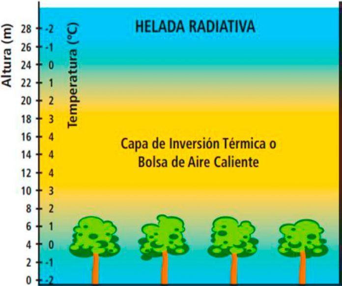helada radiativa de RADIACION