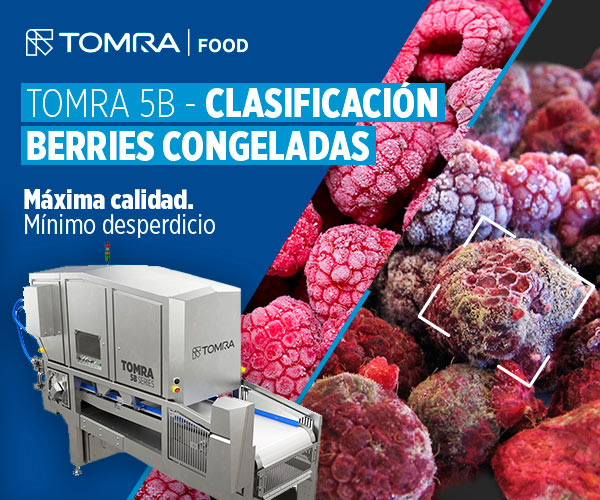 clasificación berries congeladas TOMRA-5B Raspberries TOMRA food