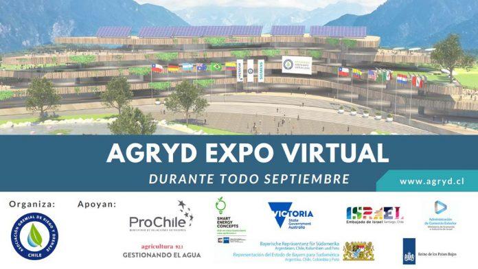 AGRYD Expo Virtual 2021: Un mes de actividades en torno al uso eficiente del agua y la energía en el riego. La actividad tendrá lugar en septiembre y contará con una feria virtual y webinars semanales. Los organizadores esperan más de 10 mil inscritos.