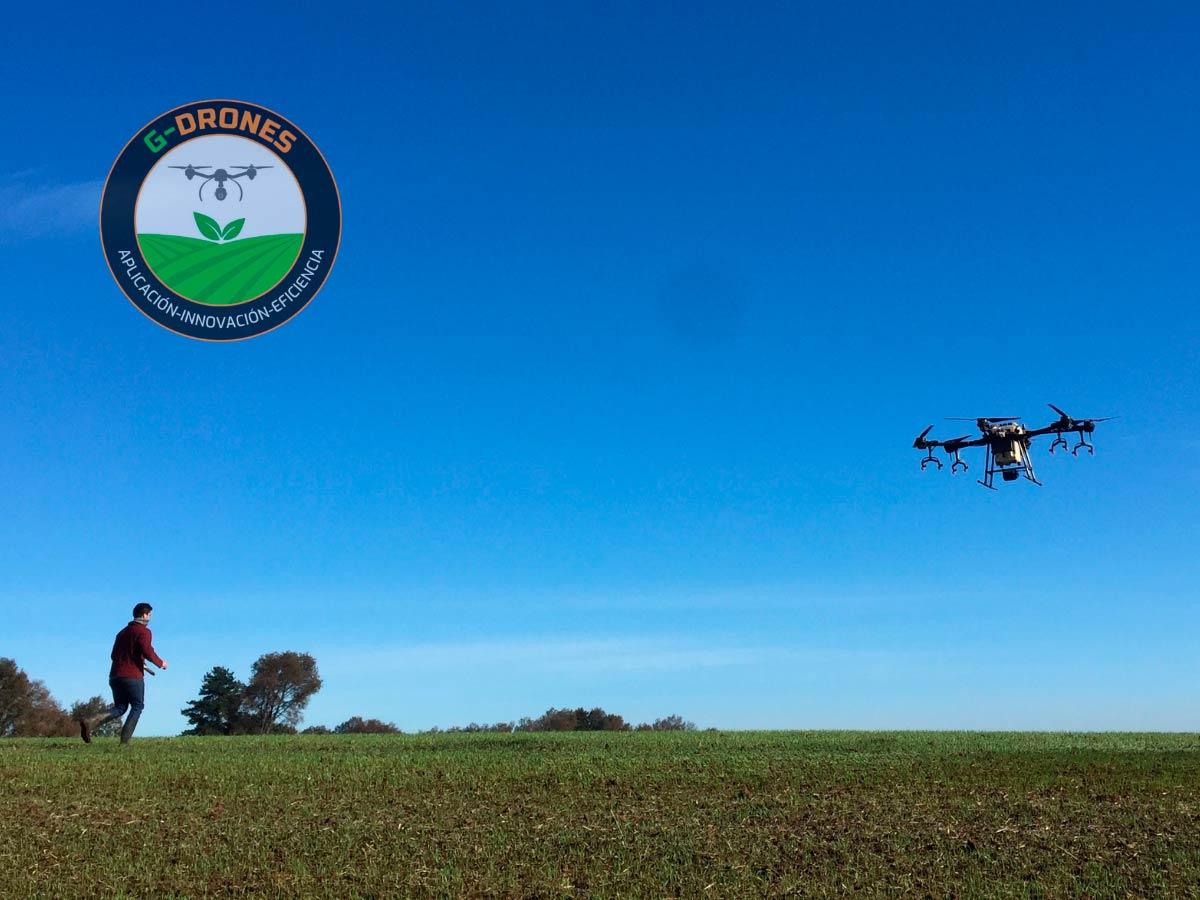 Aplicaciones Fitosanitarias con Drones en Ñuble. Drone Agras t16