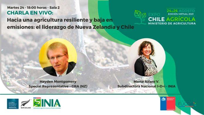 Expo Chile Agrícola 2021 | Líderes de INIA y GRA expondrán en vivo sobre resiliencia en la agricultura y su alcance global