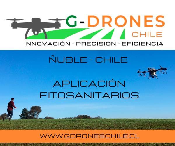G Drones Chile aplicaciones fitosanitarios agricultura